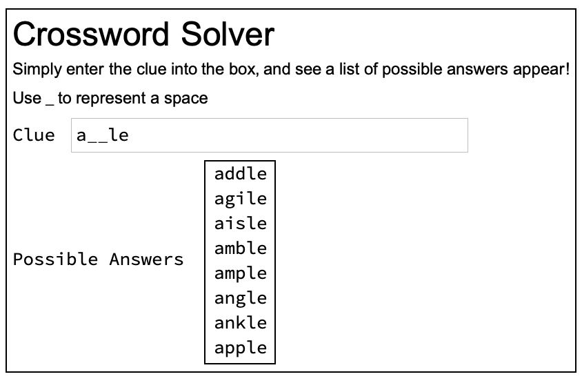Crossword Solver Introduction Raspberry Pi Projects