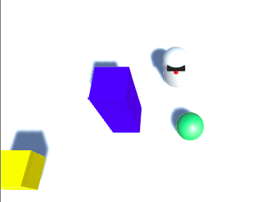 A game where the robot must get the ball into the yellow zone