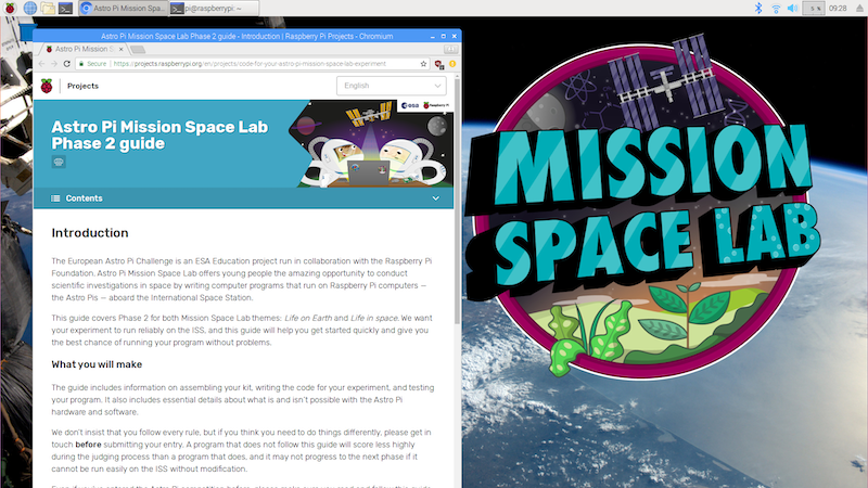 Astro Pi Mission Space Lab Phase 2 guide - Getting started