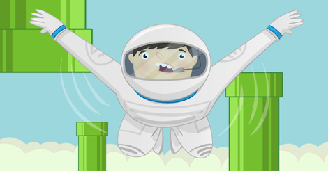 Flappy Astronaut - Using 2D lists with the Sense HAT