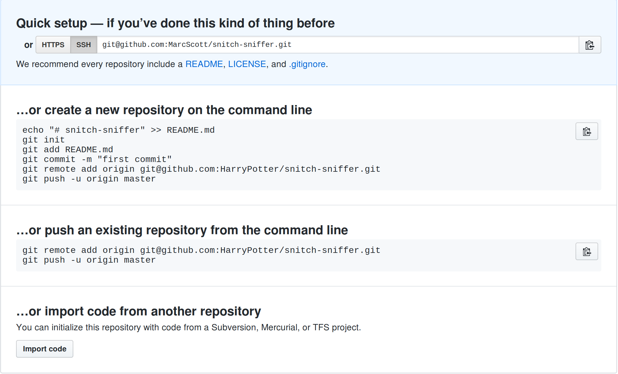 Getting started with Git - Working with a sky-bag