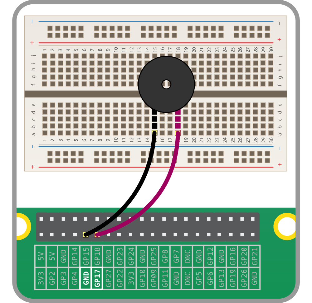 Physical Computing With Python Using A Buzzer Raspberry Pi Projects Simple Electronic Schematic Diagram