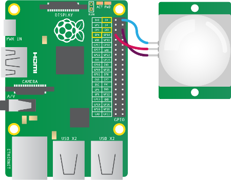 physical computing with python using a pir sensor potentiometer wiring guide