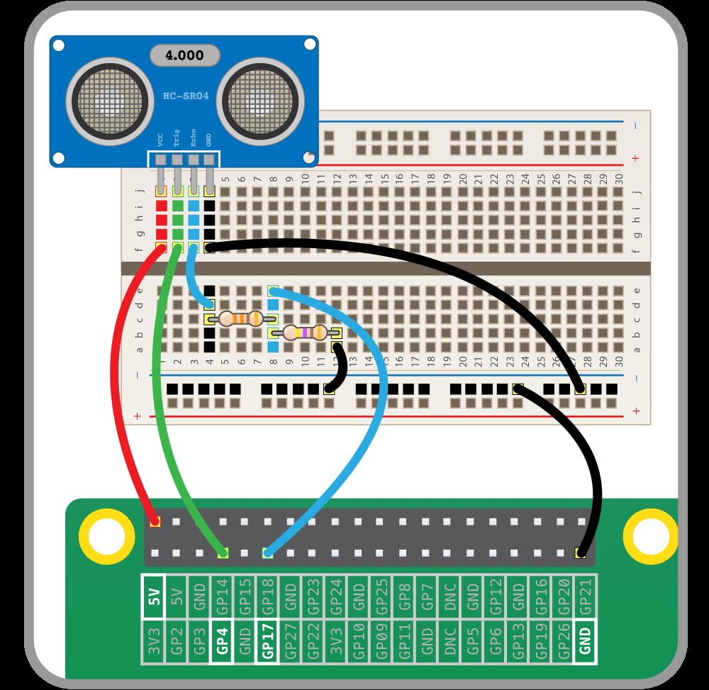 Physical Computing with Python - Using an ultrasonic distance sensor