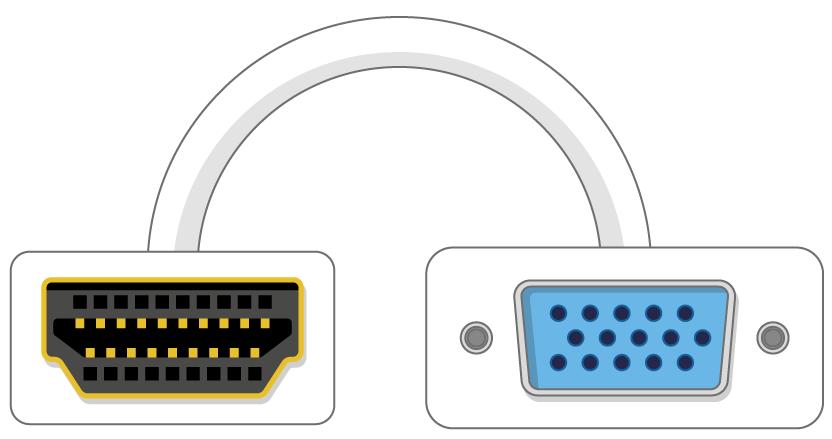 HDMI naar VGA-adapterpoort