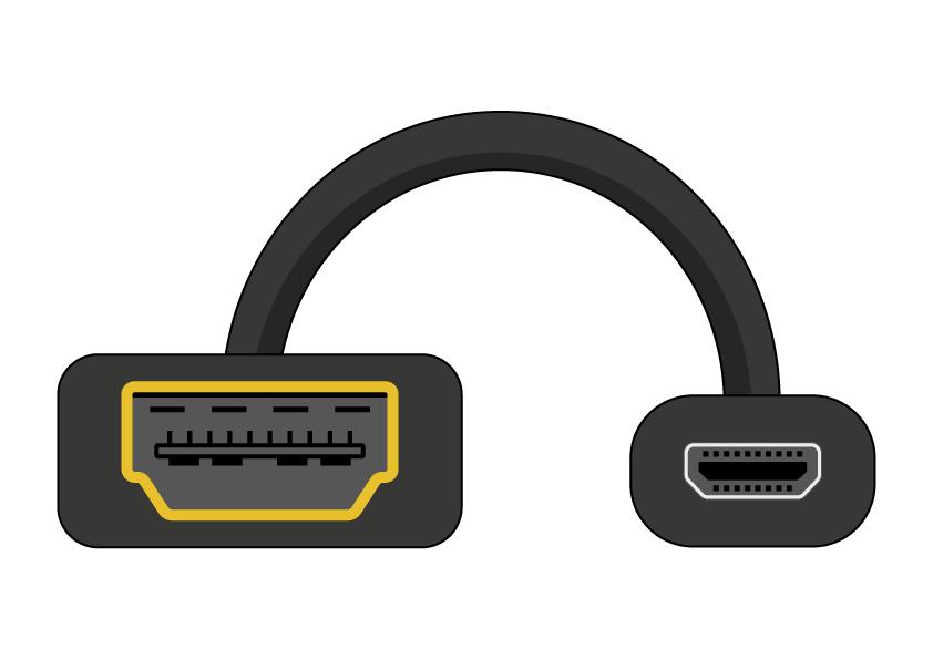 micro hdmi naar hdmi-adapter