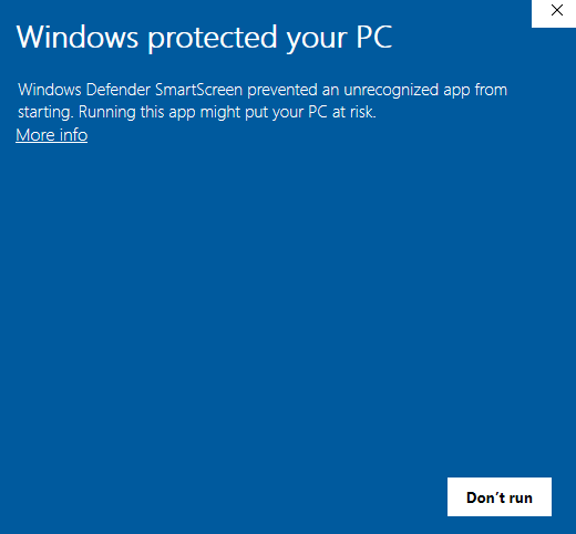 Windows-waarschuwing