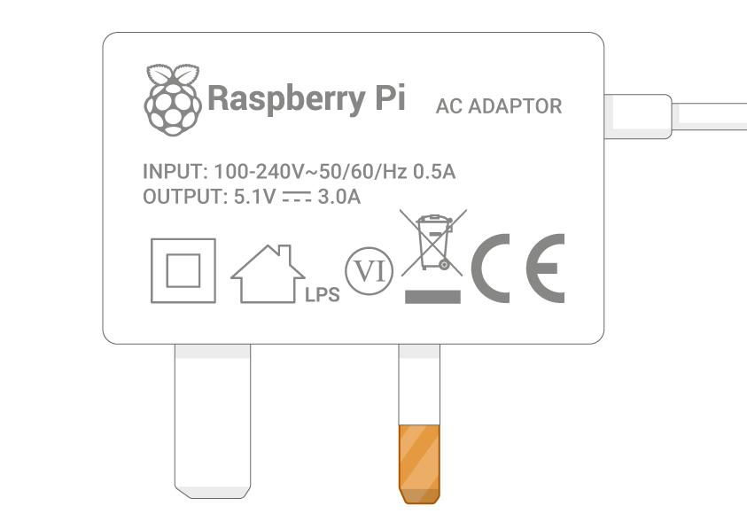 3 amp power supply label