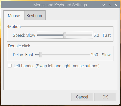 Using your Raspberry Pi - Keyboard and mouse settings