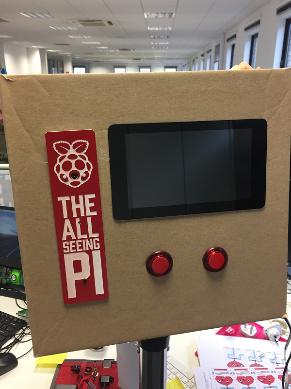 All Seeing Pi In A Cardboard Box